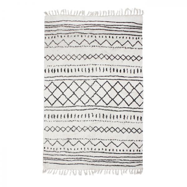 Tapis berbère blanc 190 x 290 cm