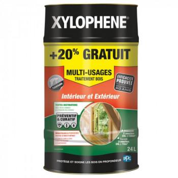 Peinture Xylophene multi-usages traitement spécial bois incolore 24 L