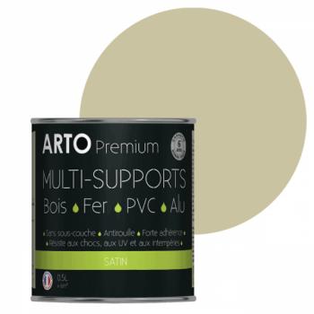 Peinture Arto Premium multi-supports blanc cassé satin 0,5L