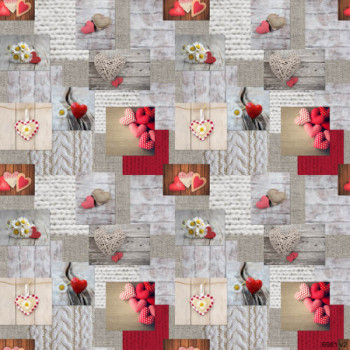 Toile cirée romantique 140 cm