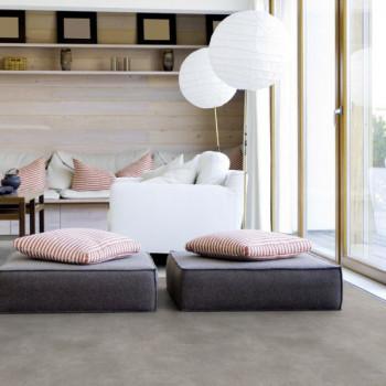Sol PVC décor béton gris