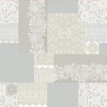 Toile cirée motif dentelle 140 cm