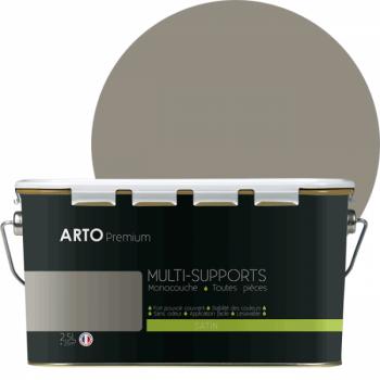 Peinture arto premium multi - supports murs, plafonds, boiseries, plinthes et radiateurs kaolin  satin 2,5 L