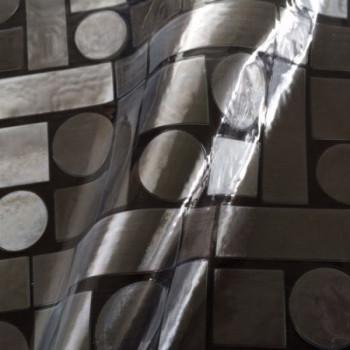 Cristal imprimé relief 3D géométriques