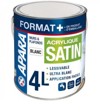 Peinture murs et plafonds satin Format + 4L