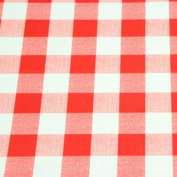 Toile cirée rouge 140 cm