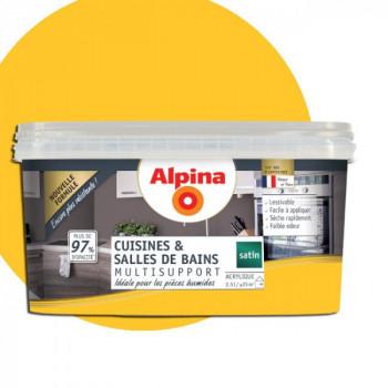 Peinture ALPINA cuisines & salles de bains curry satin