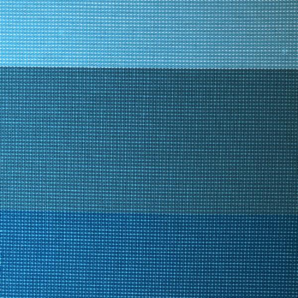 Toile transat rayée turquoise 160 cm