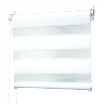 Store enrouleur lumière/nuit blanc 90 x 250 cm