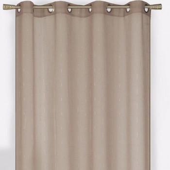 Rideau étamine fil coupé taupe
