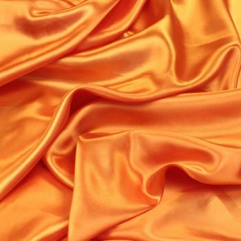 Tissus satin uni orange 140 cm