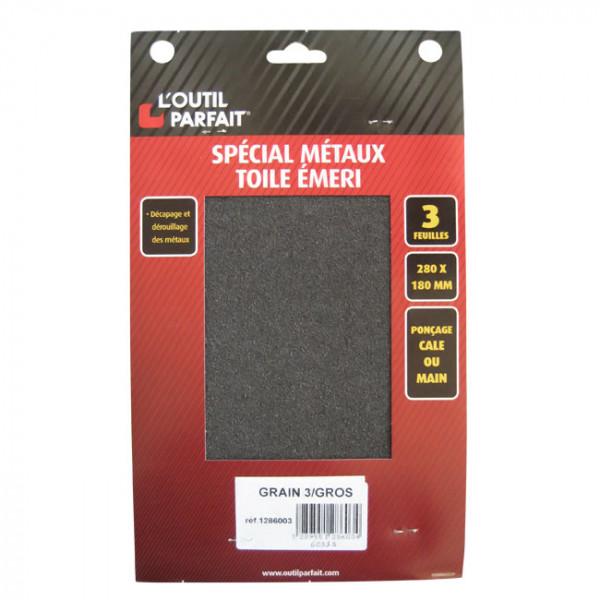 Toile émeri spécial métaux grain gros 3