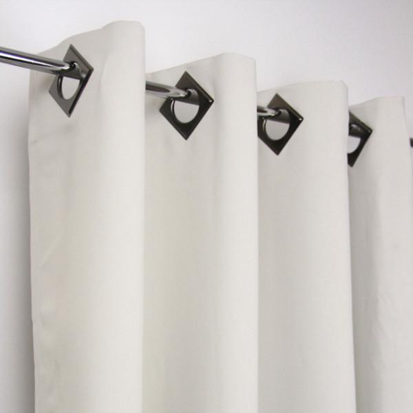 Rideau œillets occultant ivoire