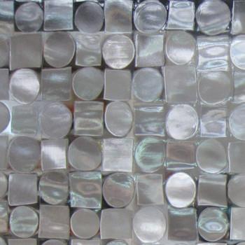 Nappage pvc cristal gaufre transparent motif géométrique