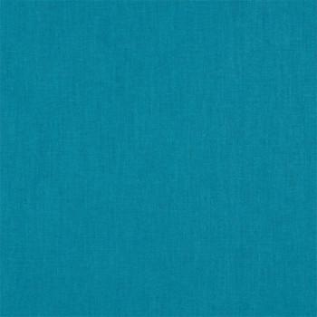 Tissu cretonne uni bleu canard 150 cm