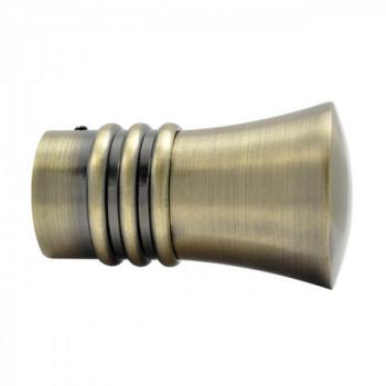 Embout OLYMPE Pommeau strié bronze 28 mm