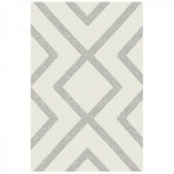 Tapis beige avec motif géométrique gris 160 x 230 cm