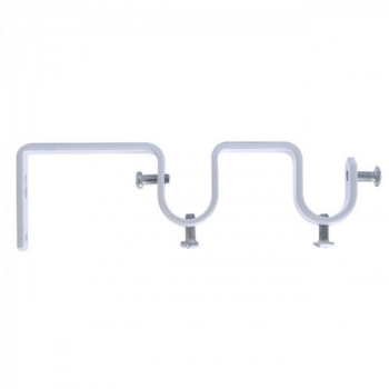 Support double ouvert JAZZ blanc 19 mm