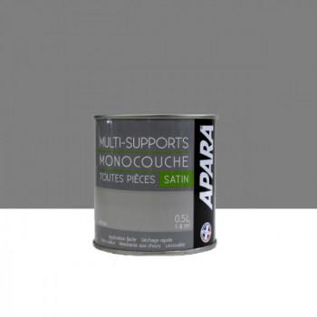 Peinture Apara multi-supports  Murs, plafonds, boiseries, plinthes...  gris béton satin 0,5L