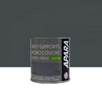 Peinture Apara multi-supports  Murs, plafonds, boiseries, plinthes...  gris anthracite satin 0,5L
