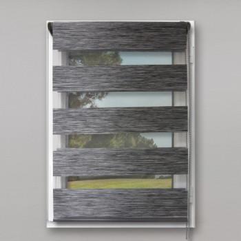 Store enrouleur lumière/nuit gris chiné 90 x 150 cm