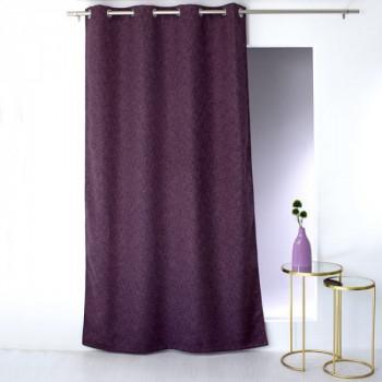 Rideau occultant violet chiné