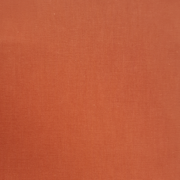 Tissu cretonne uni  orange 150 cm