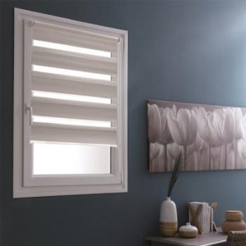 Store enrouleur lumière/nuit 125 x 190 cm