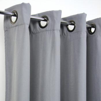 Rideau thermique anti-froid gris acier