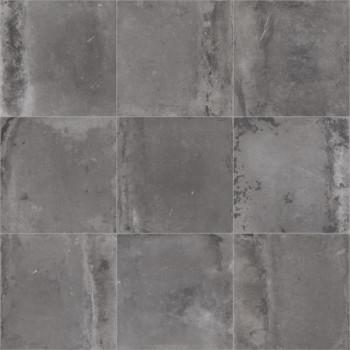 Sol PVC décor carreaux gris