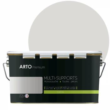 Peinture arto premium multi - supports murs, plafonds, boiseries, plinthes et radiateurs jonc de mer satin  2,5 L