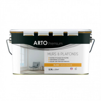 Sous-couche Arto Premium acrylique mate blanche 2,5L