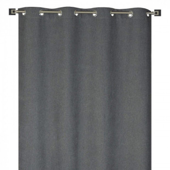 Rideau tissu jacquard gris obscurcissant