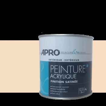 Peinture Apro multi-supports  Murs, plafonds, boiseries, plinthes… beige sable satin 0,5 L