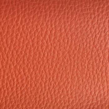 Tissu simili cuir effet grainé terracotta 140 cm
