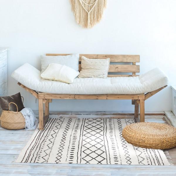 Tapis berbère blanc 120 x 170 cm