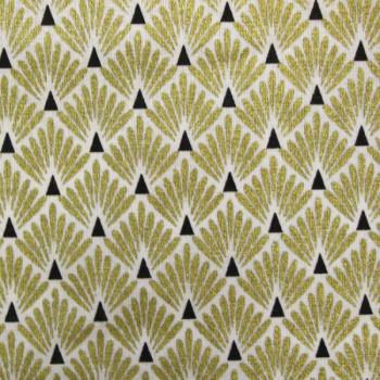 Tissu cretonne motif écailles dorées 160 cm