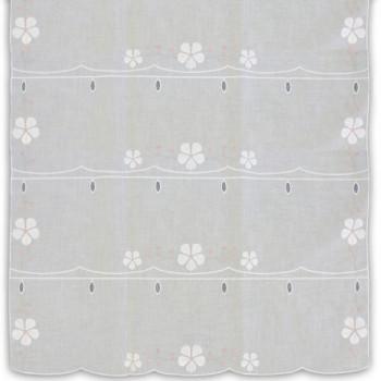 Voile modulable blanc fleurettes 70 cm