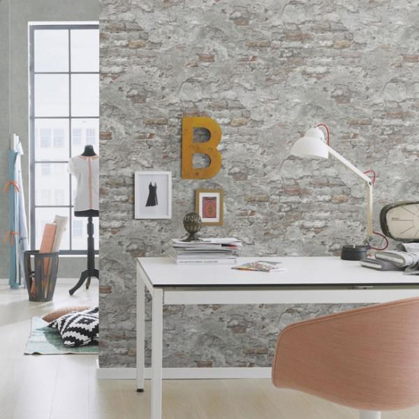 Papier peint intissé lessivable Briques