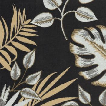 Tissu jacquard feuillages 140 cm