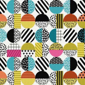Tissu jacquard Géométrique multicolore 150 cm