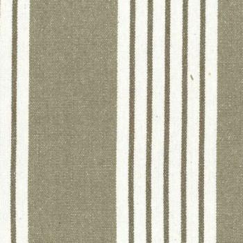 Tissu coton beige avec rayures blanches 150 cm