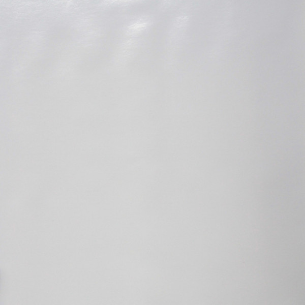 Toile cirée unie laquée blanc 140 cm