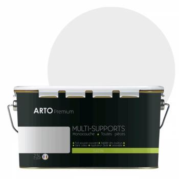 Peinture arto premium multi - supports murs, plafonds, boiseries, plinthes et radiateurs pervenche satin  2,5 L