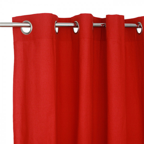 Rideau tissu écru rouge Victoria