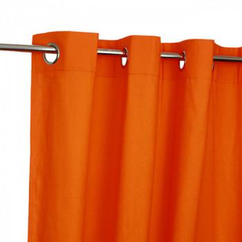 Rideau tissu orange Victoria
