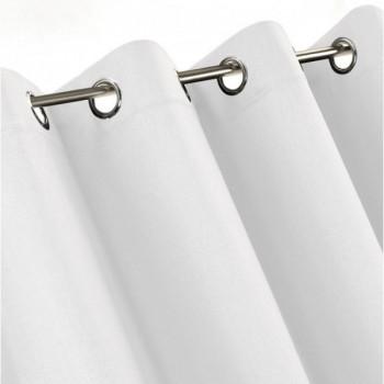 Rideau œillets tissu occultant blanc