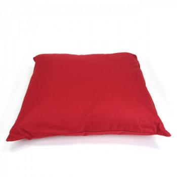 Coussin carré zippé rouge 60x60 cm