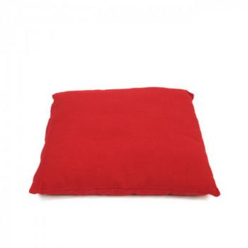 Coussin carré zippé rouge 40x40 cm