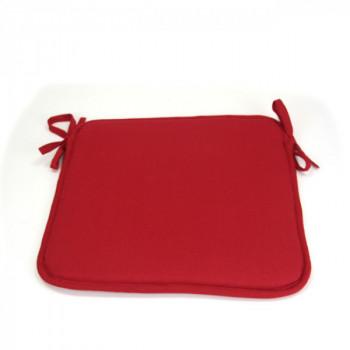 Galette de chaise carrée rouge 40x40 cm